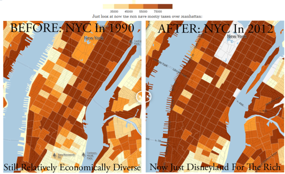 Map of NYC gentrification